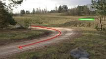 Точка 3 Техничная связка правого и левого поворотов + переход с гравия...