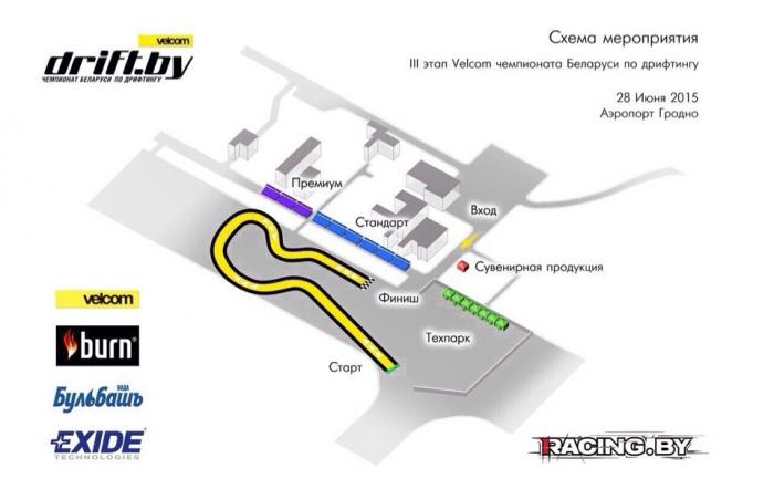 Схема трассы в Гродно 2015