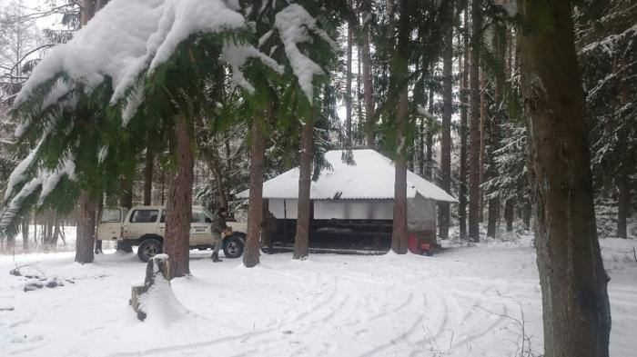 Встреча Нового года 2016 в лесу